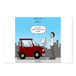Smart Car vs Dumb Guy Postcards (Package of 8)