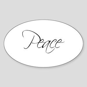 PEACE - Oval Sticker