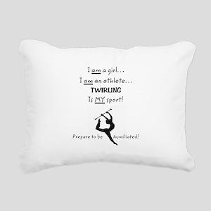 Twirling Athlete Rectangular Canvas Pillow