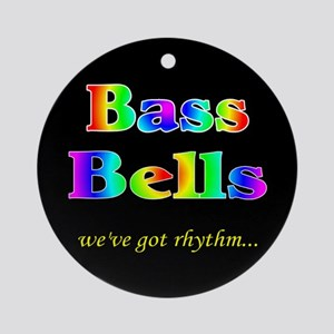 Bass Bells Black Ornament (Round)