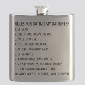 10 Rules for Dating My Daughter Flask