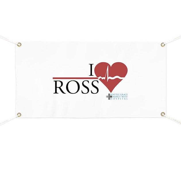 I Heart Ross - Grey\'s Anatomy Banner by wheetv10