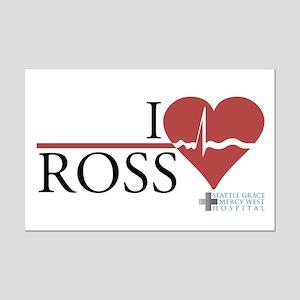 I Heart Ross - Grey's Anatomy Mini Poster Print