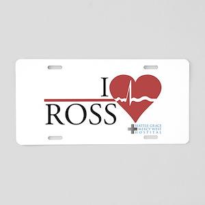 I Heart Ross - Grey's Anatomy Aluminum License Pla