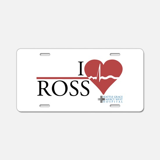 I Heart Ross - Grey's Anatomy Aluminum License Pla