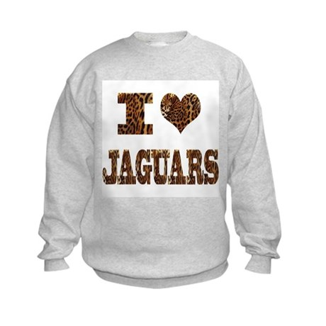 i love jaguars Kids Sweatshirt