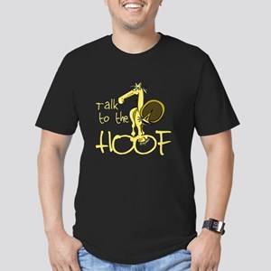 Talk to the Hoof Men's Fitted T-Shirt (dark)