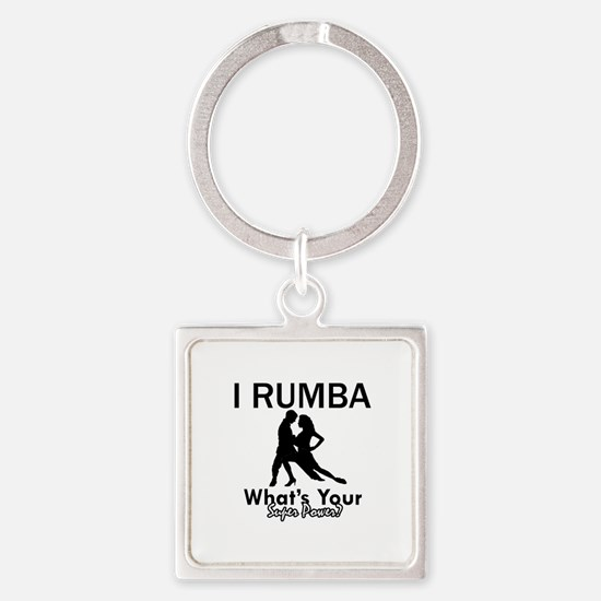 Rumba is my Superpower Square Keychain