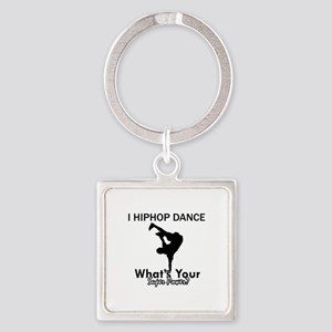 Hip Hop is my Superpower Square Keychain