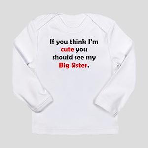 Cute Big Sister Long Sleeve T-Shirt