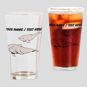 Custom Beluga Whales Drinking Glass