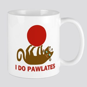 I Do Pawlates Cat and Exercise Humor Mug