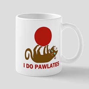 I Do Pawlates Cat and Exercise Humor Mug