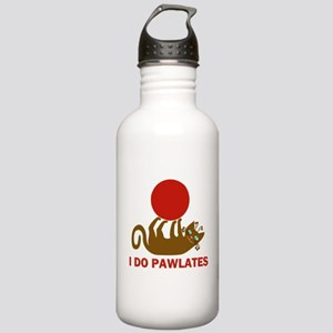 I Do Pawlates Cat and Exercise Humor Stainless Wat