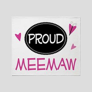 Proud Meemaw Throw Blanket