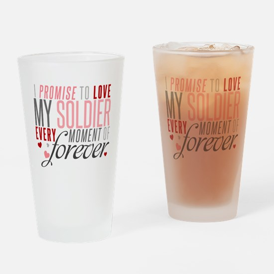 I Promise to Love my Soldier Drinking Glass