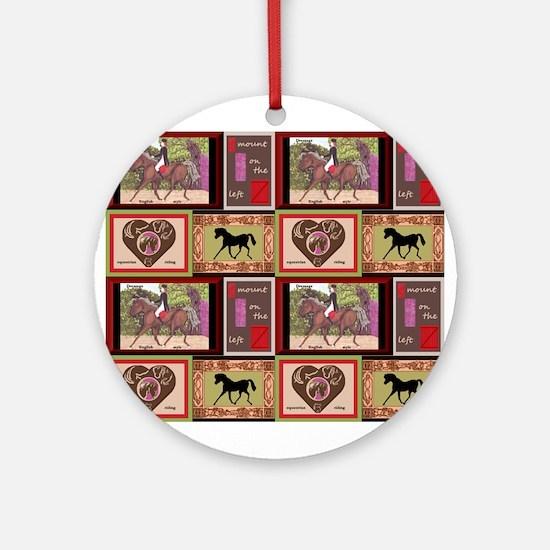 Dressage Horses Ornament (Round)