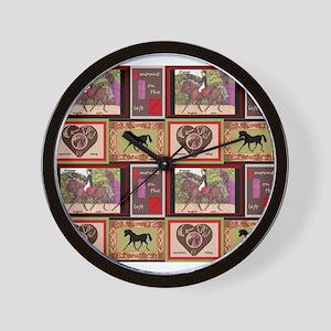 Dressage Horses Wall Clock