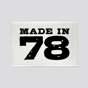 Made In 78 Rectangle Magnet
