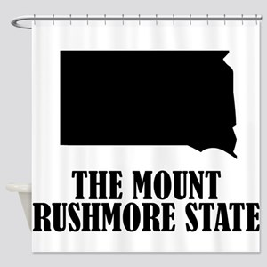 South Dakota The Mount Rushmore State Shower Curta