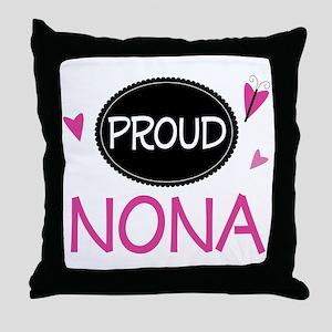 Proud Nona Throw Pillow