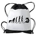 Evolution of Judo Drawstring Bag