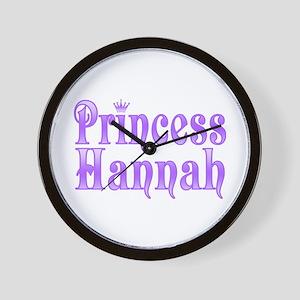 """""""Princess Hannah"""" Wall Clock"""