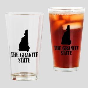 New Hampshire The Granite State Drinking Glass