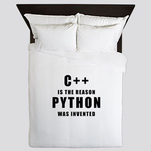 C++ Vs Python Queen Duvet