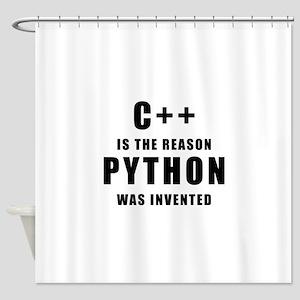 C++ Vs Python Shower Curtain