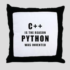 C++ Vs Python Throw Pillow