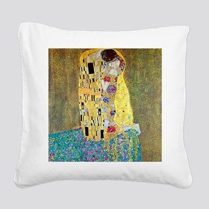 The Kiss by Gustav Klimt, Vintage Art Nouveau Squa