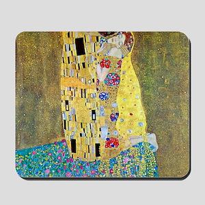 The Kiss by Gustav Klimt, Vintage Art Nouveau Mous