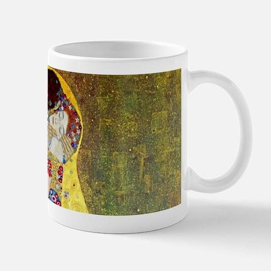 The Kiss by Gustav Klimt, Vintage Art Nouveau Mug