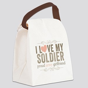 I Love my Soldier Canvas Lunch Bag