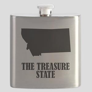 Montana The Treasure State Flask