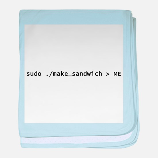 Sudo Make_Sandwich baby blanket