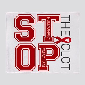 Stop the Clot Throw Blanket