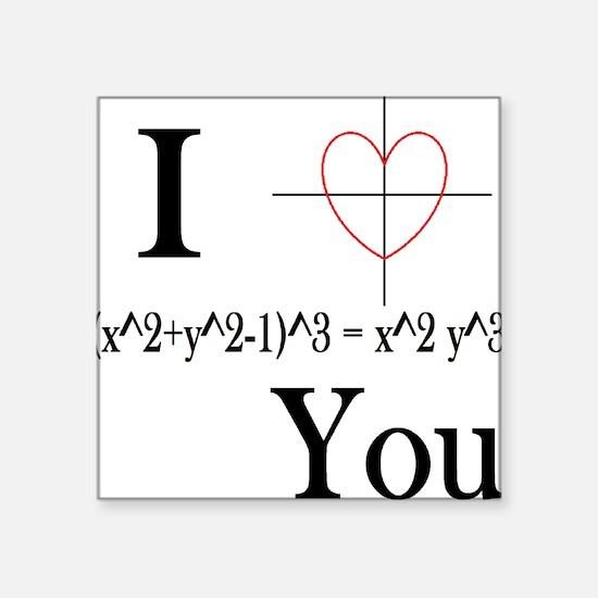 I (x^2+y^2-1)^3 = x^2 y^3 You Sticker