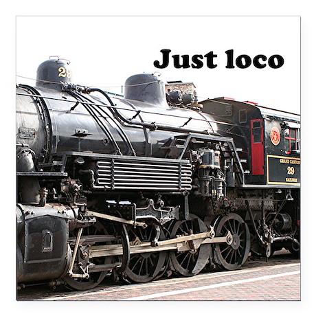 Just loco: steam train engine, Arizona, USA 2 Squa