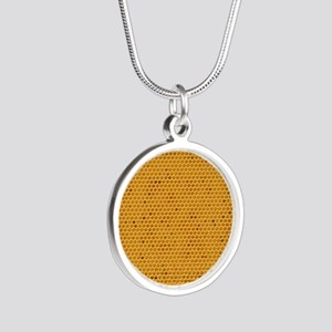 Wheres My Honey Silver Round Necklace