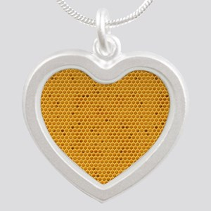 Wheres My Honey Silver Heart Necklace