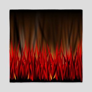 FLAMES OF FIRE Queen Duvet