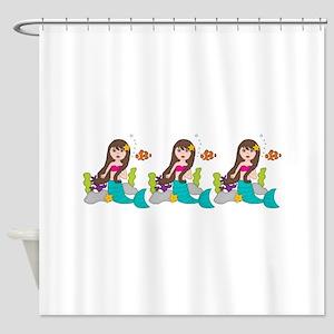 Beach Mermaid Shower Curtain