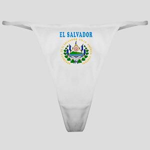 El Salvador Coat Of Arms Designs Classic Thong