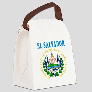 El Salvador Coat Of Arms Designs Canvas Lunch Bag