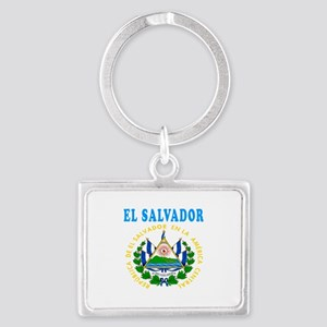 El Salvador Coat Of Arms Designs Landscape Keychai