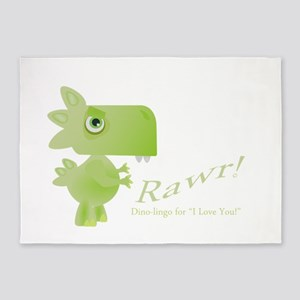 Rawr Dino Love 5'x7'Area Rug