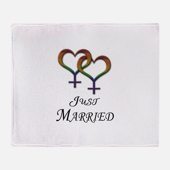 Just Married - Hearts - Lesbian Pride - Light Thro