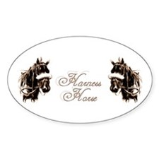 Harness Horses Oval Sticker